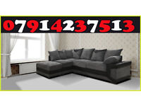 Brand New Dino 3 + 2 Or Corner Black / Grey & Brown / Beige Sofa Available 8787