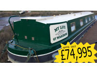 60x10 feet Wide beam canal boat built 2010