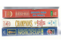 3 Soccer / Football VHS videos / Very good condition