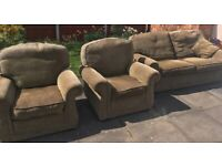 Parker knoll sofa and armchairs - FREE
