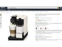 BRAND NEW DeLonghi Nespresso EN550.W Lattissima Touch Automatic Coffee Machine, White RRP £279