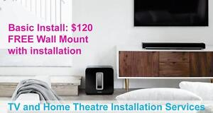 Professional TV Wall Mounting & Home Theatre Installation Residential and Commercial - 647-237-6278