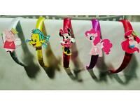Alice Headband Disney Characters Satin Ribbon