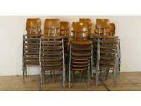 Wanted industrial ply stacking chairs vintage antique