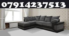 Dino 3 + 2 Or Corner Black / Grey & Brown / Beige Sofa this week only 636