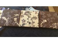 3pictures in brown n cream