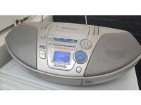 Panasonic Rx-es25 Stereo Cassette CD Player FM Radio Ghetto Blaster Boombox
