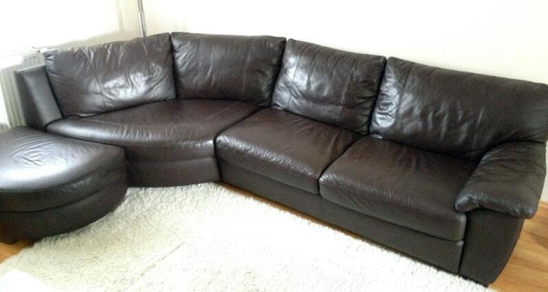 hochwertige rundcouch leder sofa in hessen wiesbaden. Black Bedroom Furniture Sets. Home Design Ideas