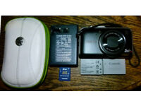 Canon Powershot SX230 HS Compact Camera 12.1MP, GPS, 14xOptical Zoom, Two Batteries, Charger, Case