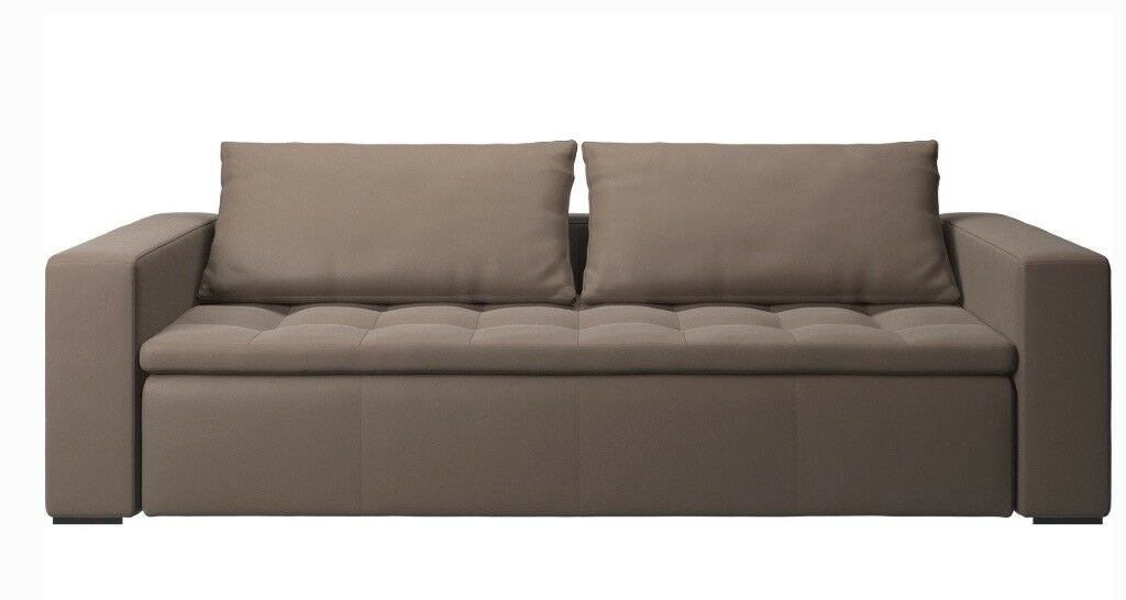 Excellent Condition Hermès Leather Sofa Mezzo By Bo Concept