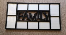 'Family' wall hanging photo frame