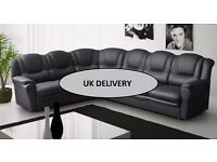 Brand new Texas 7 seater sofas, available in brown, black and cream
