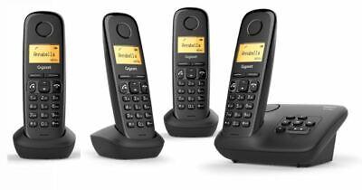 Gigaset A270A Quattro Negro 4 Inalámbrico Teléfonos con Contestador Automático