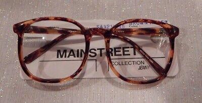 Vintage Mainstreet Jenny Brown Amber 54/21 P3 Round Eyeglass Frame New/Old Stock