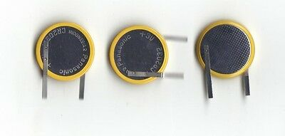 3pcs Panasonic CR2032 3V Lithium Coin Battery with Tabs for Vertical PCB Mount
