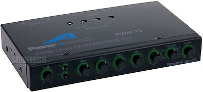 Power Acoustik Pwm-19 Car Audio 4-band Parametric Equaliz...