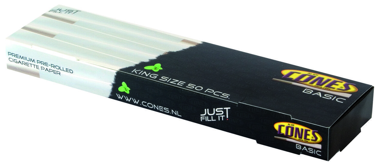 SMOKING CONES 50 PCS Pre Rolled with Tips - Ready to Fill -