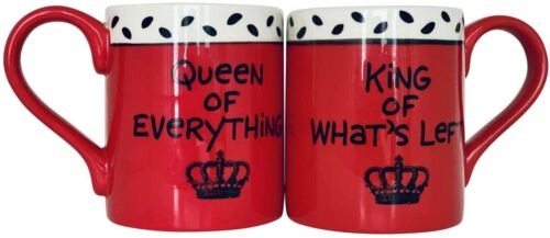 """Our Name is Mud """"King & Queen"""" Stoneware Coffee Mug Set King and Queen"""