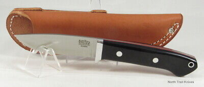 Bark River Knives Classic Drop Point Hunter, Elmax, Black Canvas with Red Liners