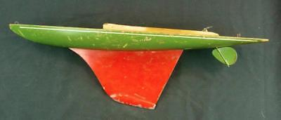 """Vintage Pond Yacht Boat Sailboat Hull Red Green Yellow 21"""" Nice and Attractive"""