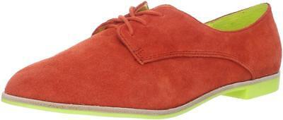 DV Dolce Vita Mini Loafer Flame Suede Flats Shoes Lace Up Orange Green Women NEW Vita-mini