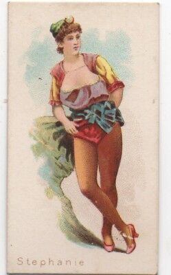 1880s William Kimball Cigarette Card of Ballet Queen Stephanie
