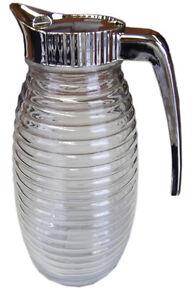 Clear Glass Jug with Lid Handle Fridge Jug Milk Cream Juice Water Jugs Kitchen