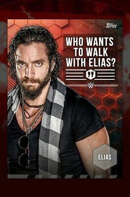 Topps WWE SLAM Card Trader Tag Lines Elias