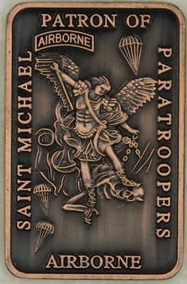 Saint Michael Patron Saint of Paratroopers Copper Army Airborne Challenge (Saint Michael Patron Saint)