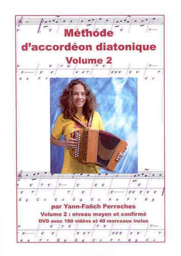 Accordion Diatonic Method + DVD Volume 2 Yann Fañch Perroches