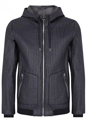 D&G DOLCE & GABBANA MEN'S RIBBED SHELL JACKET  BNWT 100% AUTHENTIC!