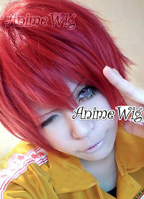 Kurz Cosplay Anime Kostüme Perück Naruto Sasori Rot für Fasching Welling + - Sasori Cosplay Kostüm