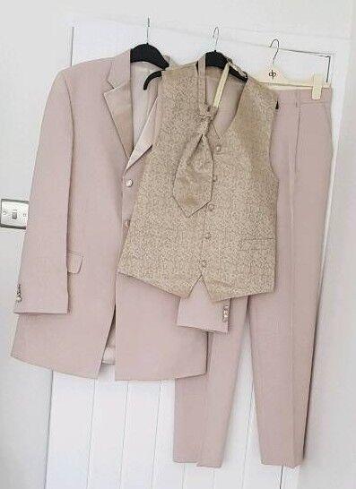 Khaki Wedding Suit | Beige Gold Wedding Suit In Blackhall Colliery County Durham