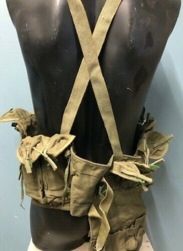 Chinese Army Surplus Chest Rig Type 63 Ammo Vest  Bandoleer OD Green