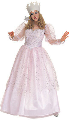 Wizard Of Oz Licensed Glenda The Good Witch 2 Pc Pink & Silver Dress & Crown - Glenda Good Witch