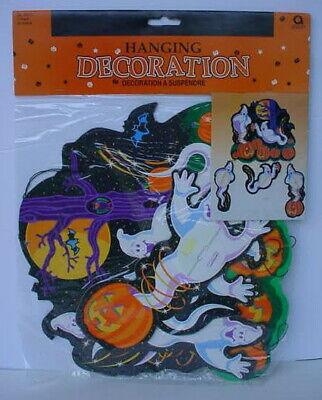 Vintage AMSCAN Die Cut Hanging HAUNTED TREE Honeycomb GHOST Halloween Decoration - Halloween Tree Decoration