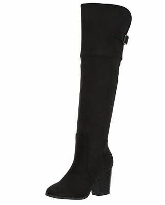 Easy Street Women's Maxwell Western Boot, Black New Super Suede, 6.5 M US Black Super Street Boot
