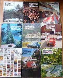 Lot of 14 Vintage Corvette News magazines 1971 - 1975