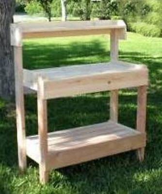 Easy-Build Potting Gardeners Bench-DIY-Woodworking-Project-Plan Free  Shipping