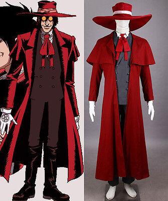 Hellsing Alucard Cosplay Costume Set Vampire Hunter Kostüm Herushingu Anzug neu (Vampire Hunter Kostüm)