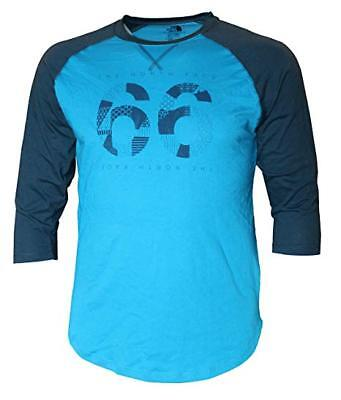 New The North Face 3/4 Sleeve Baseball Tee - Blue - Men's size Large Shirt