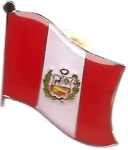 LOT OF 12 Peru Flag Lapel Pins - Peruvian Flag Pin