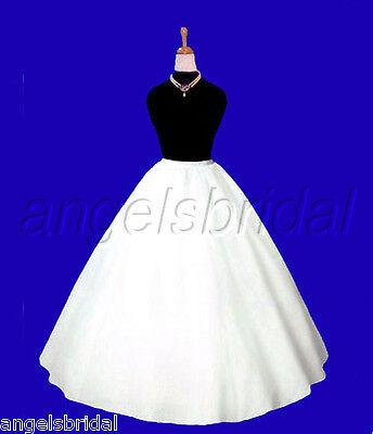 EXTRA FULL A-LINE HOOPLESS BRIDAL WEDDING GOWN PETTICOAT CRINOLINE SKIRT SLIP - Full Wedding Gown Bridal Petticoat