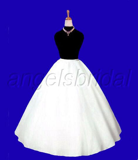 EXTRA FULL A-LINE HOOPLESS BRIDAL WEDDING GOWN PETTICOAT CRINOLINE SKIRT SLIP