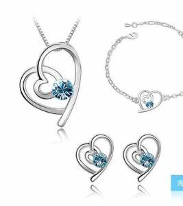 New heart shaped jewelry set