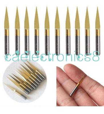 5pcs 3.175mm Carbide Pcb Engraving Bits Cnc Router Tool 10 Degrees 0.1mm V-shap