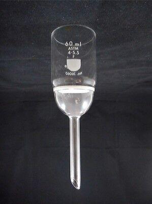 Corning Pyrex Glass 60ml 40mm Dia Fine F Frit Disc Buchner Filter Funnel 36060 B
