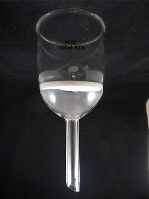 Kimble Kimax Glass 600ml 90mm Diam Medium M Fritted Buchner Filter Funnel B