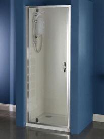 760mm Pivot Shower Door Chrome Finish