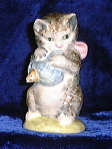 Beswick Beatrix Potter figurine Miss Moppet BP2 Gold Oval